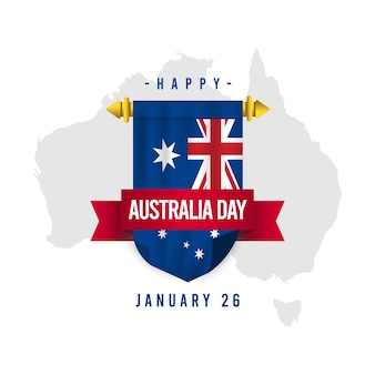 Happy australia day vector template. design for digital banner or print.