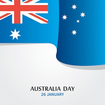 Happy australia day vector with flag effect