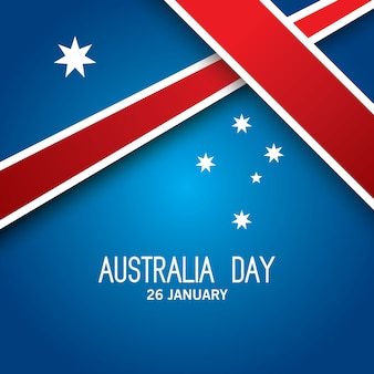 Happy australia day vector with red ribbon
