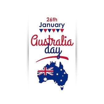 Счастливый день австралии вертикальный баннер приветствия