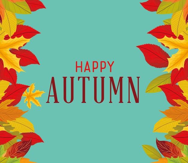 Happy autumn poster
