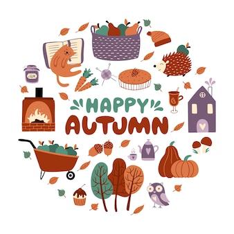 Happy autumn set