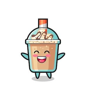 Happy baby milkshake cartoon character , cute style design for t shirt, sticker, logo element