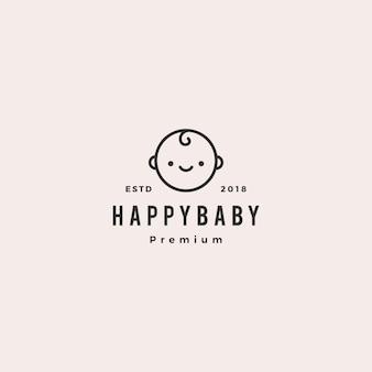 幸せな赤ちゃんの幼児の赤ちゃんのロゴ