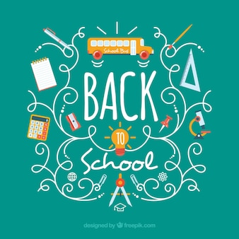 Happy back to school background
