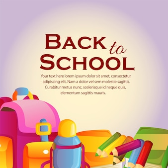 Happy back to school with stationary