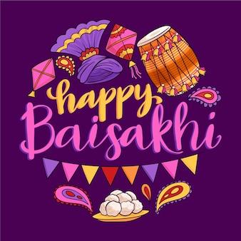 Felice celebrazione dell'evento baisakhi