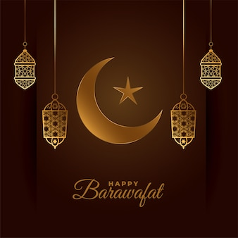 Happy barawafat beautiful festival card
