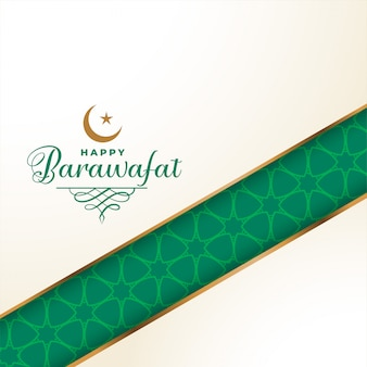 Happy barawafat festival greeting  background