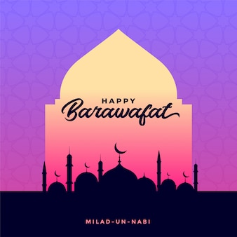 Happy barawafat islamic festival card