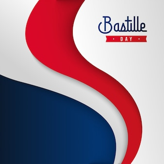 Happy bastille day background illustration  . french national day illustration