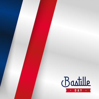 幸せなフランス革命記念日の背景イラスト。フランス建国記念日イラスト