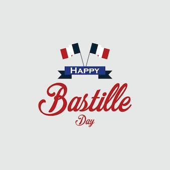 Happy bastille day vector template design