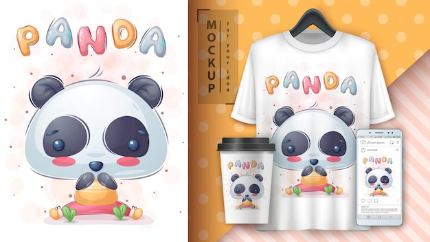 Happy bear  poster and merchandising