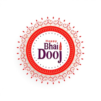 Happy bhai dooj beautiful illustration in indian style