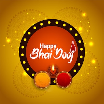 Happy bhai dooj celebration greeting card design