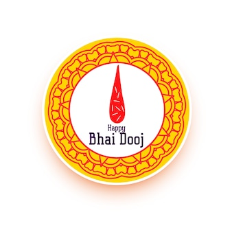Happy bhai dooj design for indian festival vector