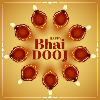 Happy bhai dooj greeting card