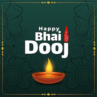 Happy bhai dooj indian festival greeting card