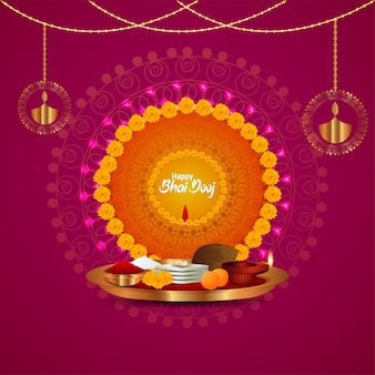 Happy bhai dooj puja thali