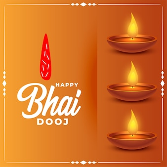 Happy bhai dooj traditional festival card