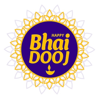 Happy bhai dooj traditional greeting card