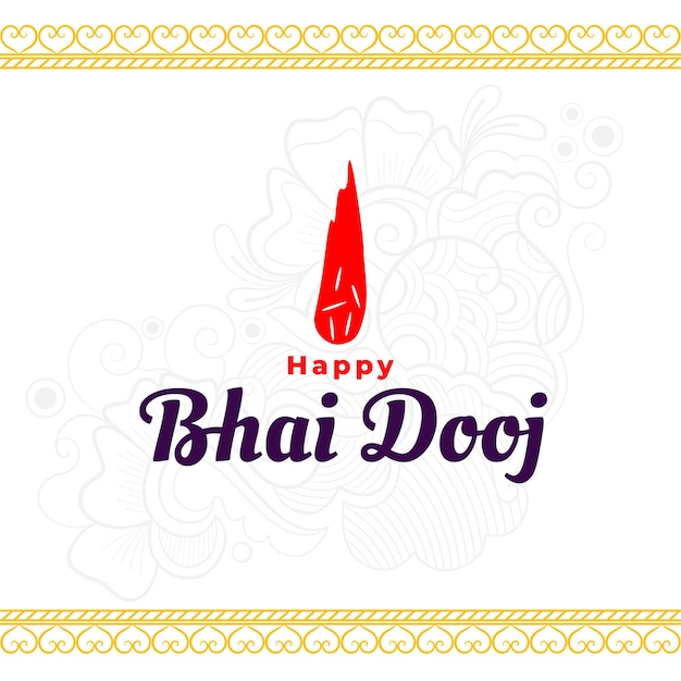 Happy bhai dooj traditoional indian background
