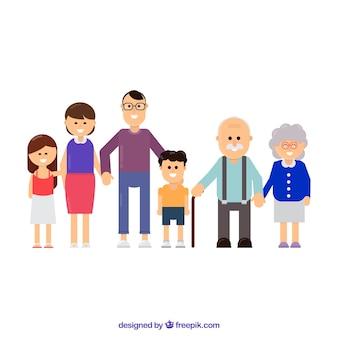행복 한 큰 가족 배경