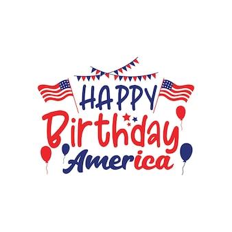 お誕生日おめでとうアメリカ引用レタリング