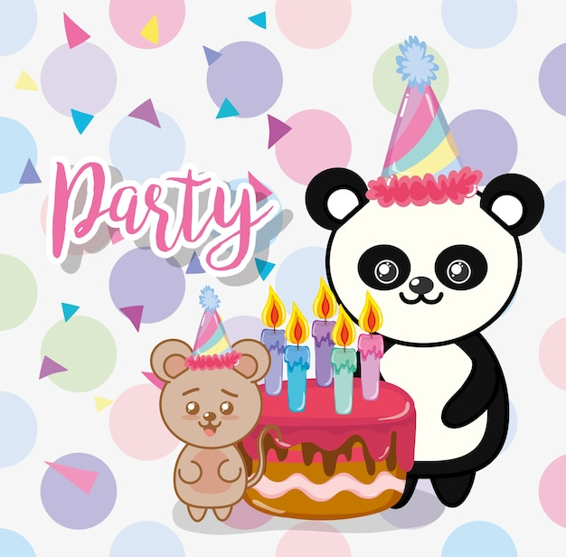 Happy birthday animals party
