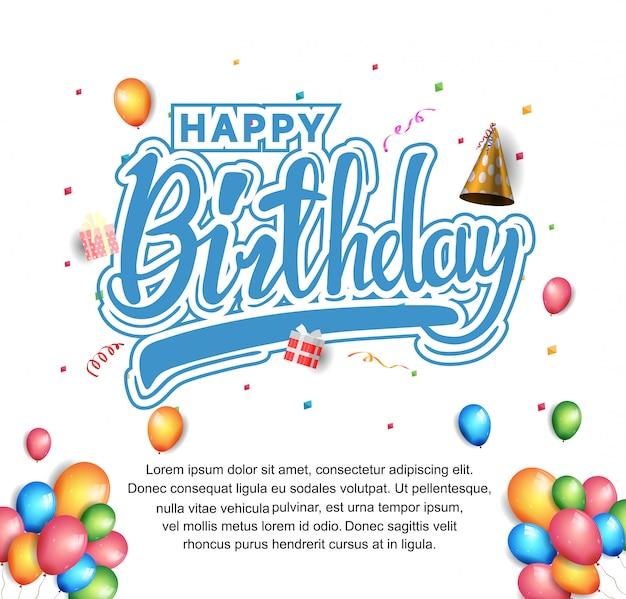 С днем рождения фон, баннер, плакат, приглашение и поздравительная открытка