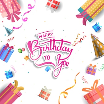 Happy birthday background, banner, poster, invitation and greeting card