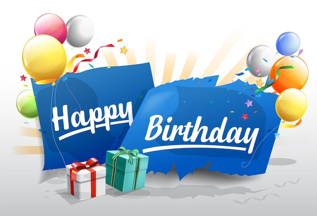 Happy birthday background for banner,poster, invitation party