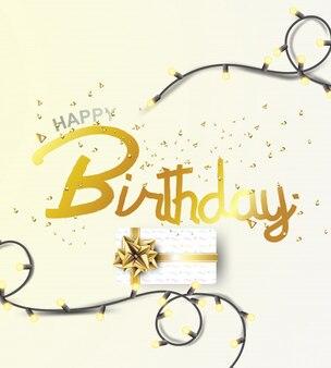 Happy birthday background.vector illustration