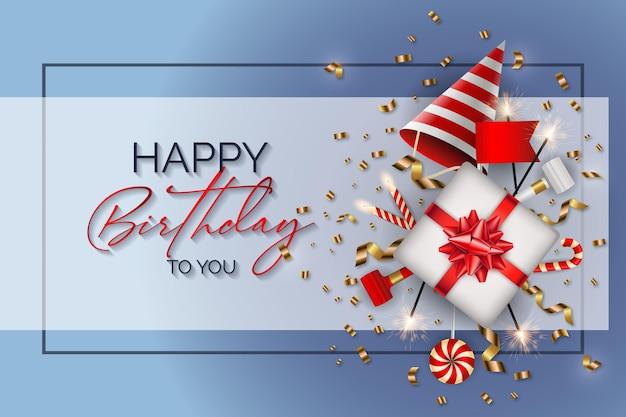 С днем рождения фон с днем рождения элементы вектора