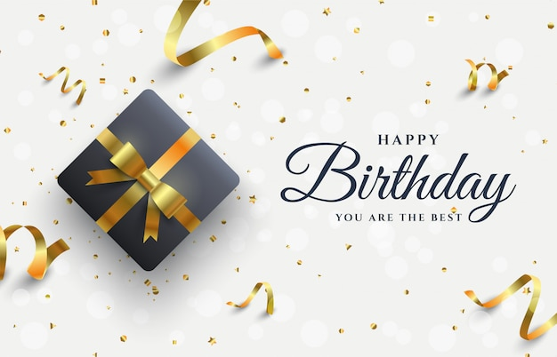 Happy birthday background Premium Vector