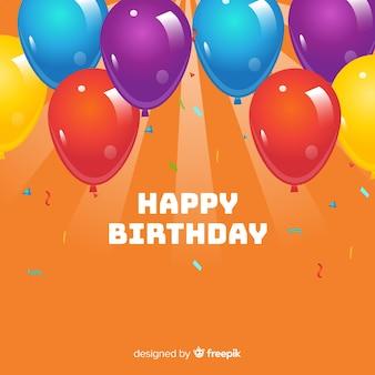 Happy birthday balloons background