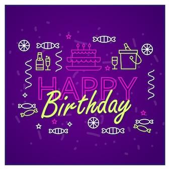 Happy birthday banner design