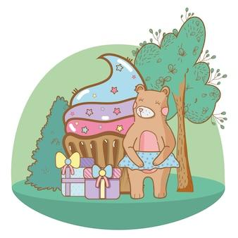 Happy birthday bear cartoons