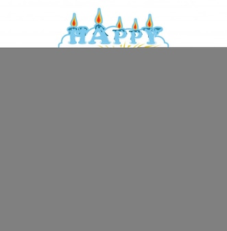 Happy birthday cake card. town urban landscape in flat style. alphabetic house set for edu