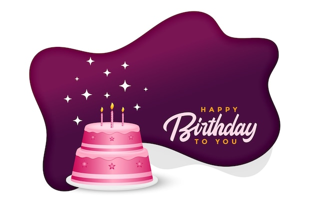 Happy birthday cake celebration background