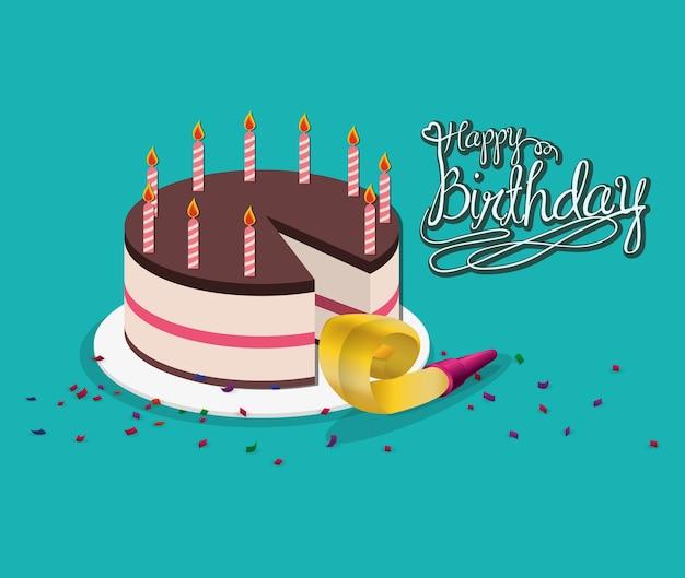 Happy birthday cake horn party