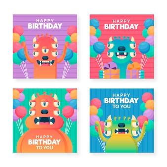 Happy birthday card collection