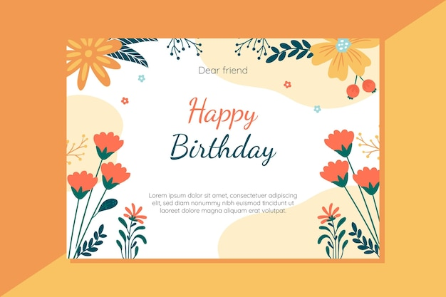 Happy birthday card concept