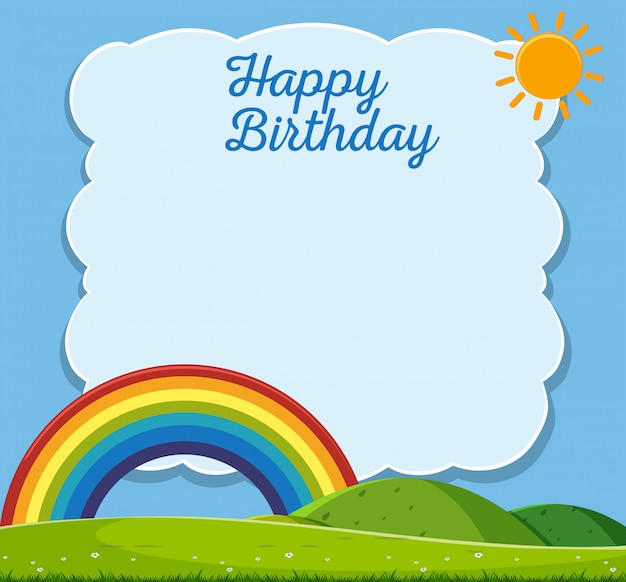 Premium Vector Happy Birthday Card Nature Template
