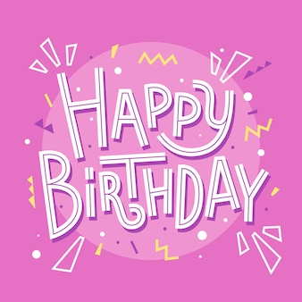 Happy birthday card on pink