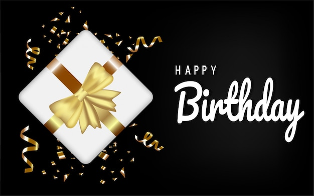 Happy birthday card template for birthday celebration