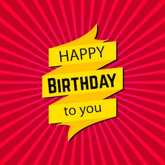 Happy birthday card with typogrpahy vector