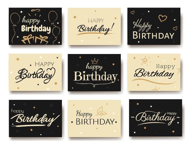 お誕生日おめでとうカードセットイラスト