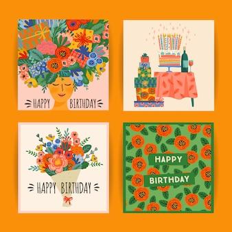 생일 축하 카드 세트